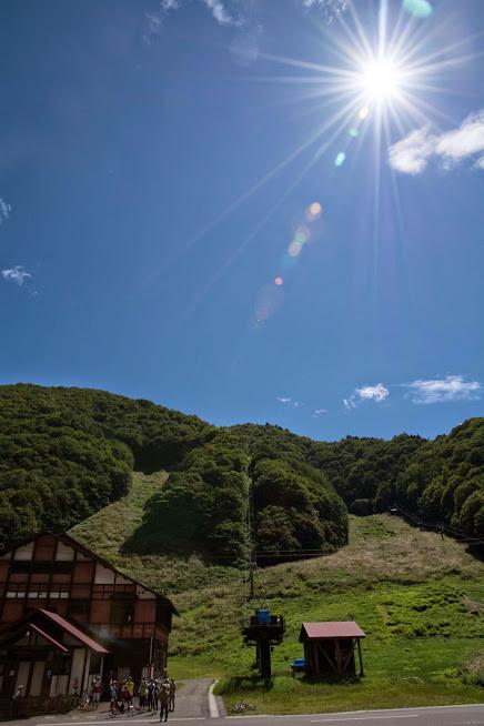 下った後は桧枝岐スキー場で休憩です