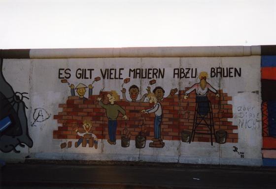 """""""Es gilt viele Mauern abzubauen"""" © Dagmar Lipper, www.wir-waren-so-frei.de"""