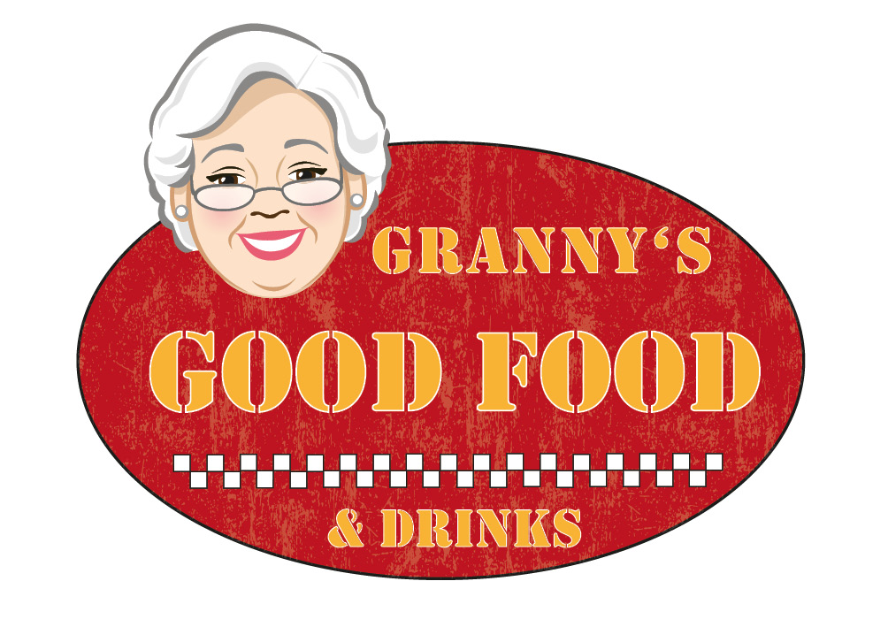 Logodesign für ein Food-Truck-Konzept, Grannys Good Food, Grafikbüro Petra Kress in Frankfurt