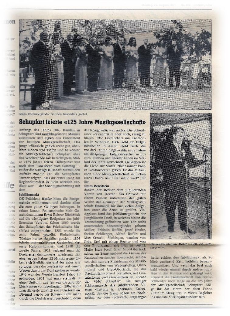 125 Jahre MG Schupfart, 1971