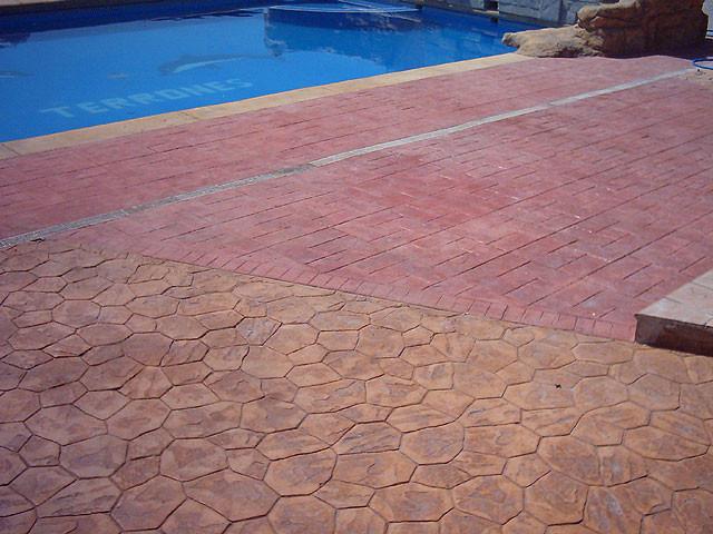 Pavimento impreso en Alicante