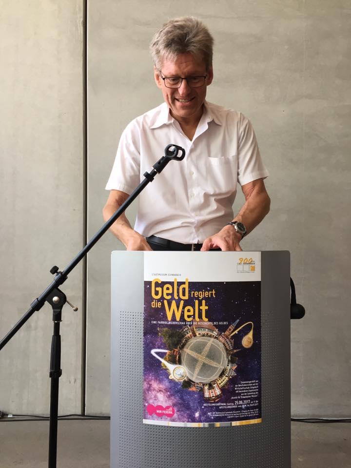 Münzvereinsvorsitzender Norbert Bickel führt durch 360 Jahre Schwabacher Münzprägegeschichte