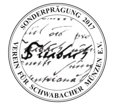 Sondermedaille 2017 auf die urkundliche Ersterwähnung Schwabachs vor 900 Jahren