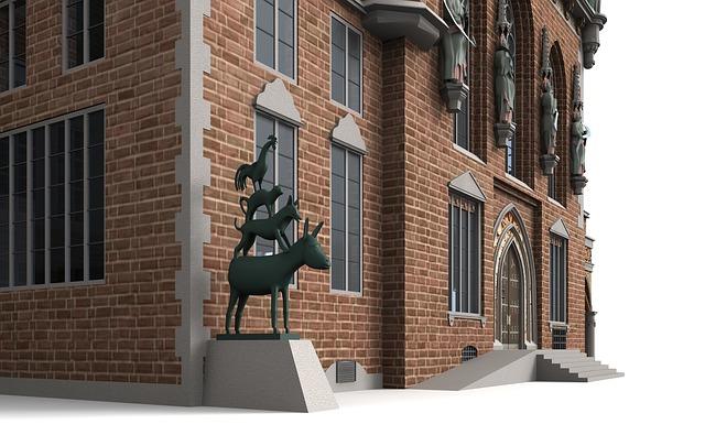 Bremer Rathaus mit den vier Stadtmusikanten
