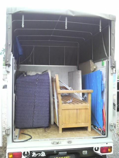 茨城県小美玉市~群馬県前橋市へ洗濯機と木製ベンチの2点配送