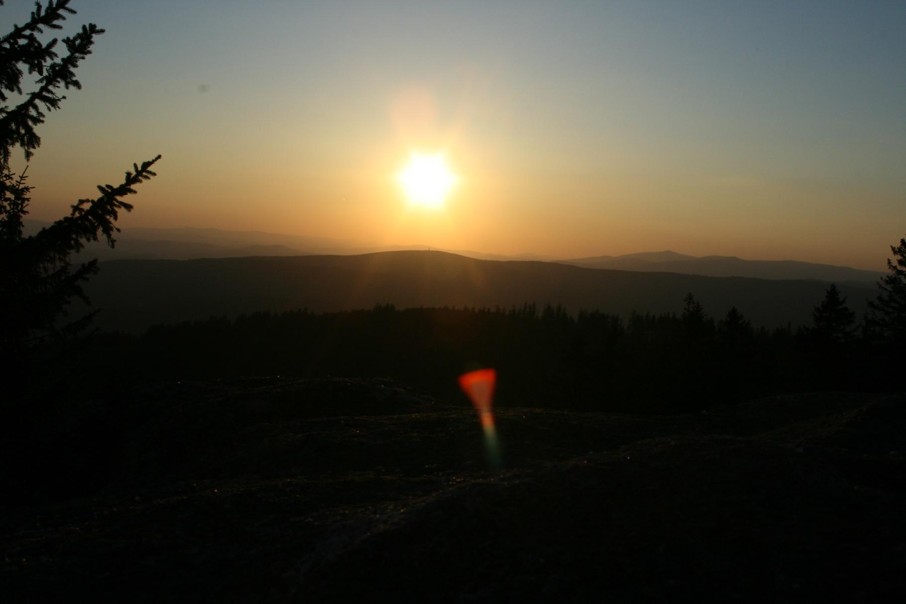 Sonnenuntergang vom Dreisesselberg