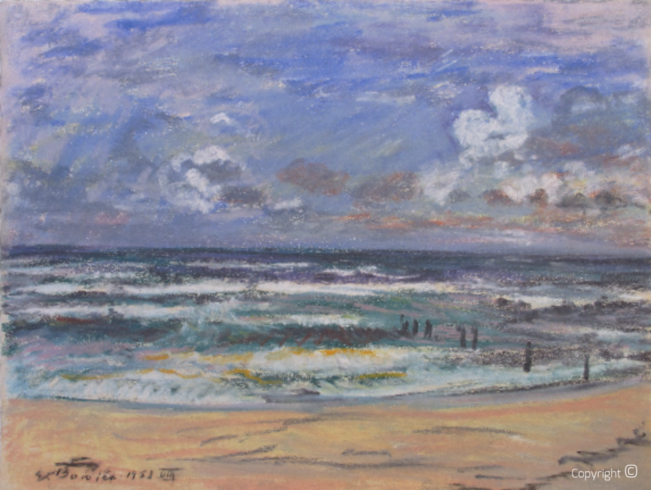 Impressions on Sylt beach, 1952