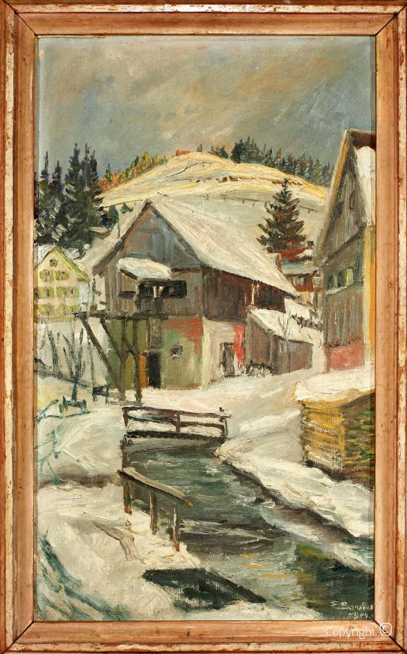 Catalog of Works N ° 176 - Winter in Kreuzthal-Eisenbach in Allgäu, 1944