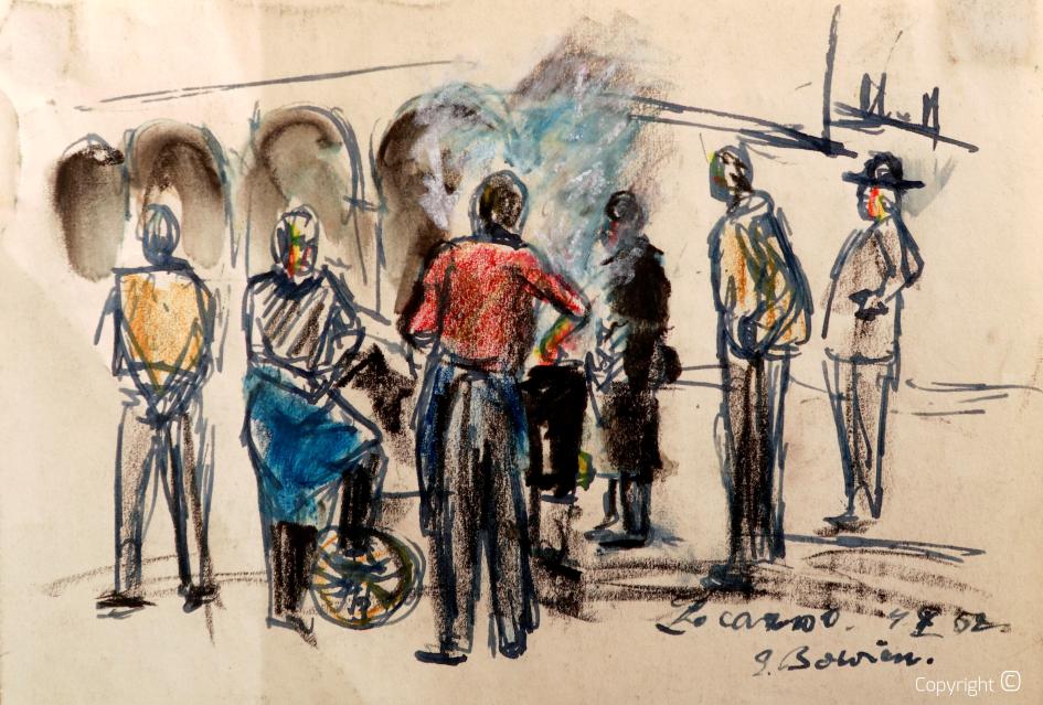 Market in Locarno, 1952