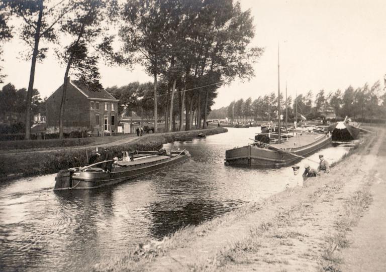 Ansicht des nordholländischen Kanals zwischen Amsterdam und Den Helder, ca. 1934
