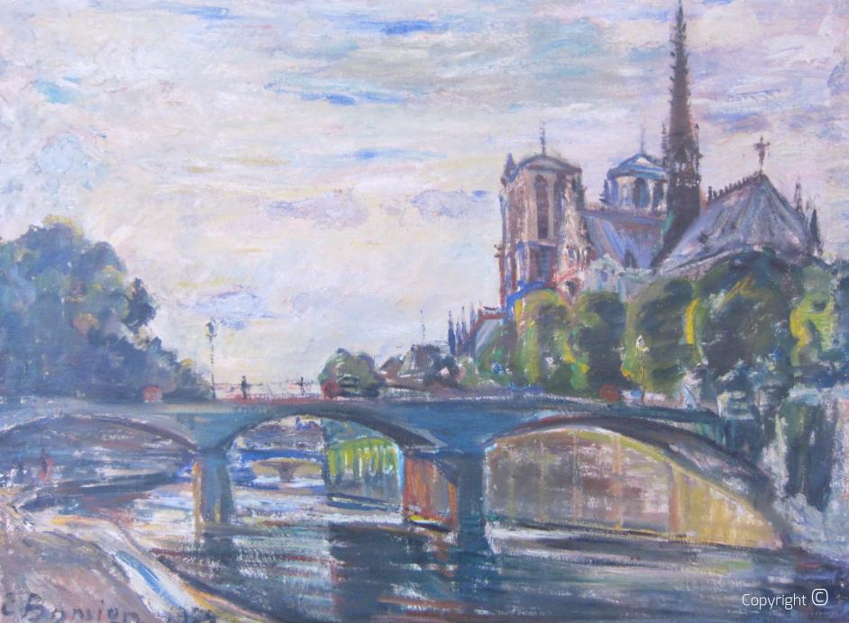 Die Kathedrale Notre Dame in Paris, 1964