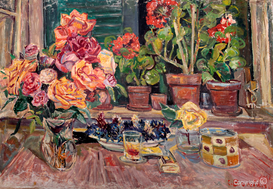 """Nature Morte"" with flowers, 1961"