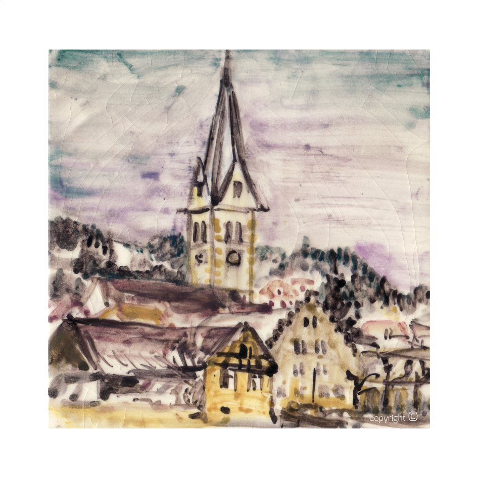 Catalog of Works N ° 2773 - View of Sipplingen on Lake Constance, 1968
