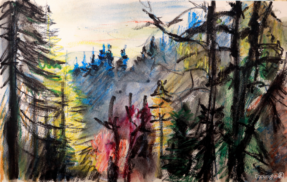 Erwin Bowien - In the woods of Adelegg, 1944