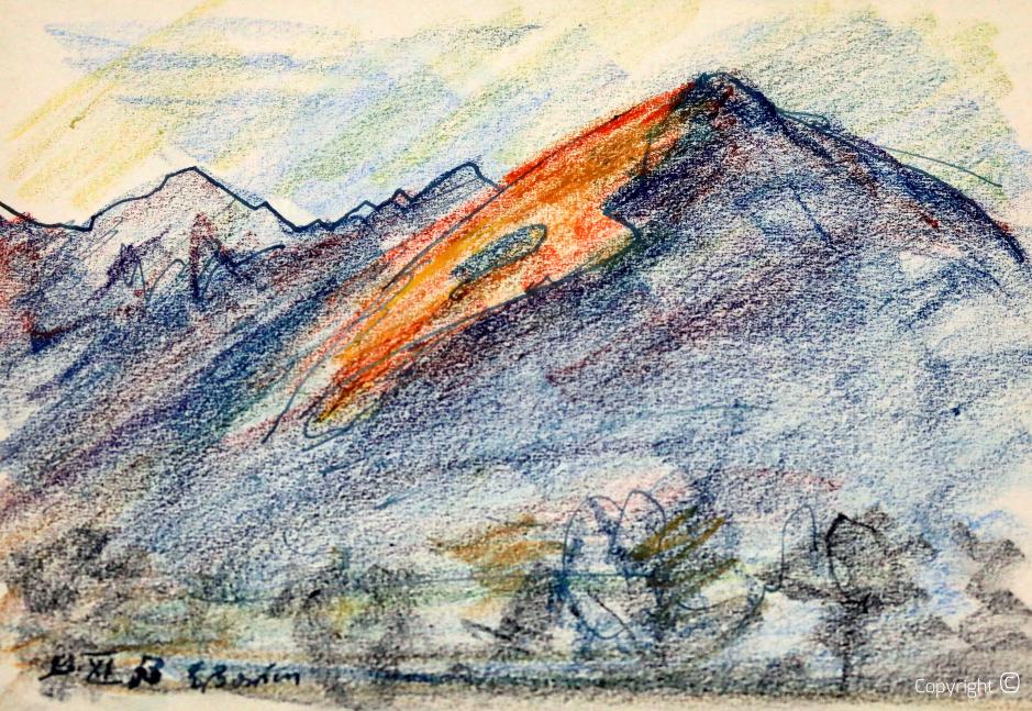 Tessin bei Locarno, Studie, 1953