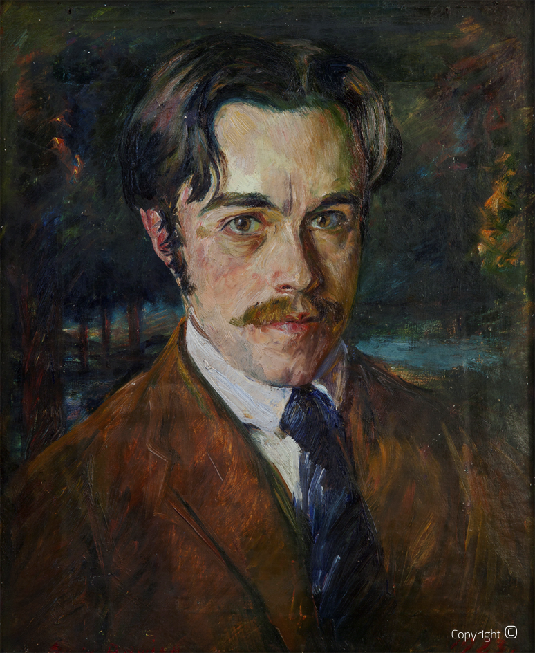 Self-portrait by Erwin Bowien, ca.1922
