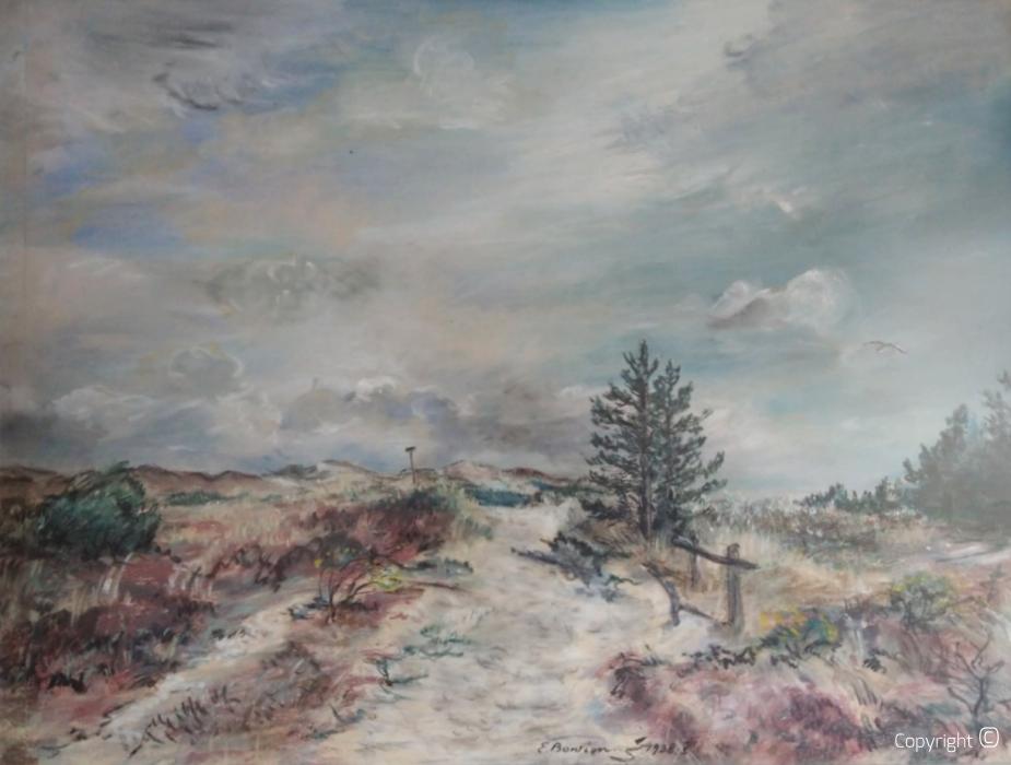 Dünenlandschaft in Holland, 1938