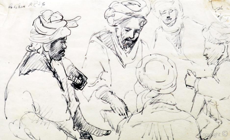Menschgruppe im algerischen Biskra, 1934