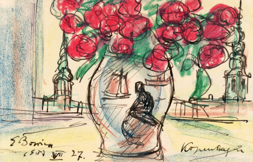 Erwin Bowien (1899-1972): Postkarte aus Kopenhagen, 1957