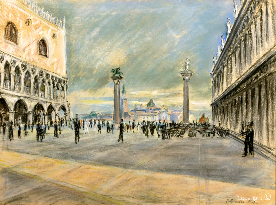 St Mark's Column in Venice, 1927