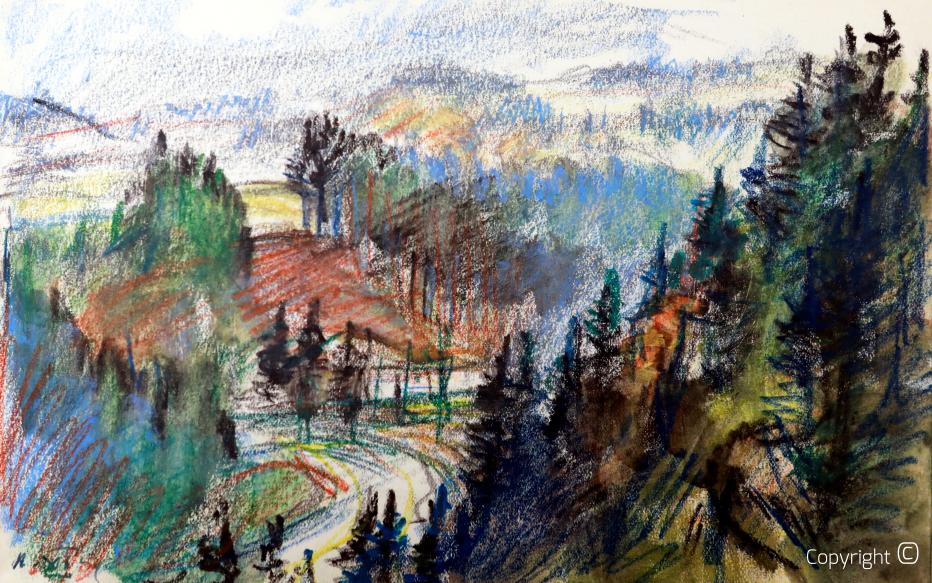 Landschaft am Oberrhein, 1954