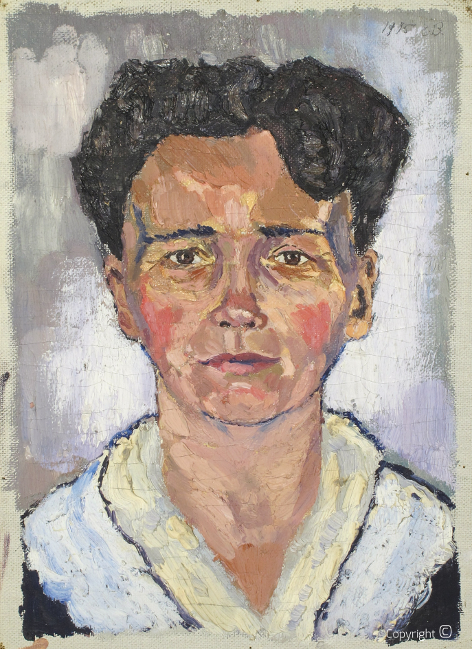 Catalog of Works N ° 03 - Portrait of the Artist's Mother, 1916