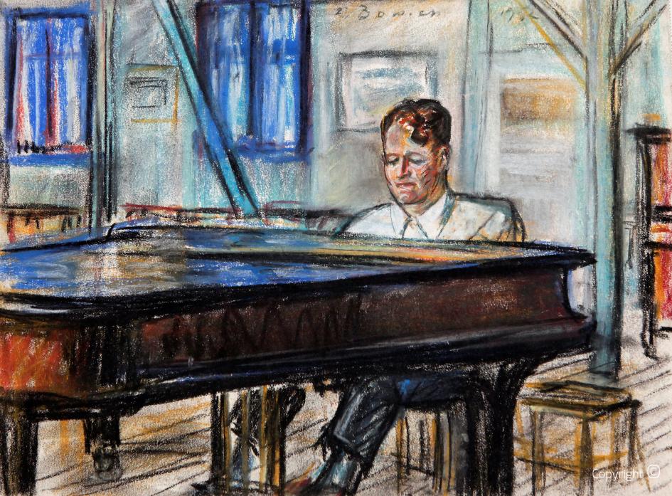Pianist in Klappoltal, Sylt, 1952
