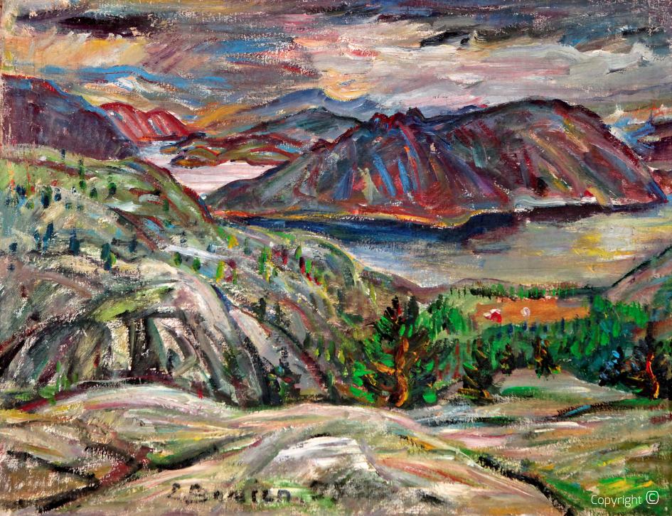 Fjordlandschaft in Norwegen, 1959