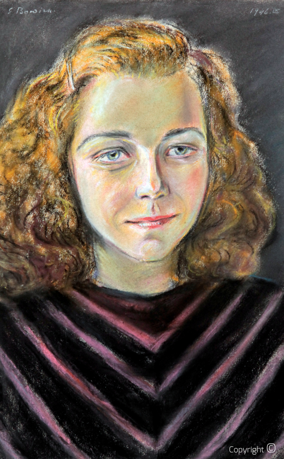 Catalog raisonné N ° 1262 - Portrait of Leni Bracht, 1946