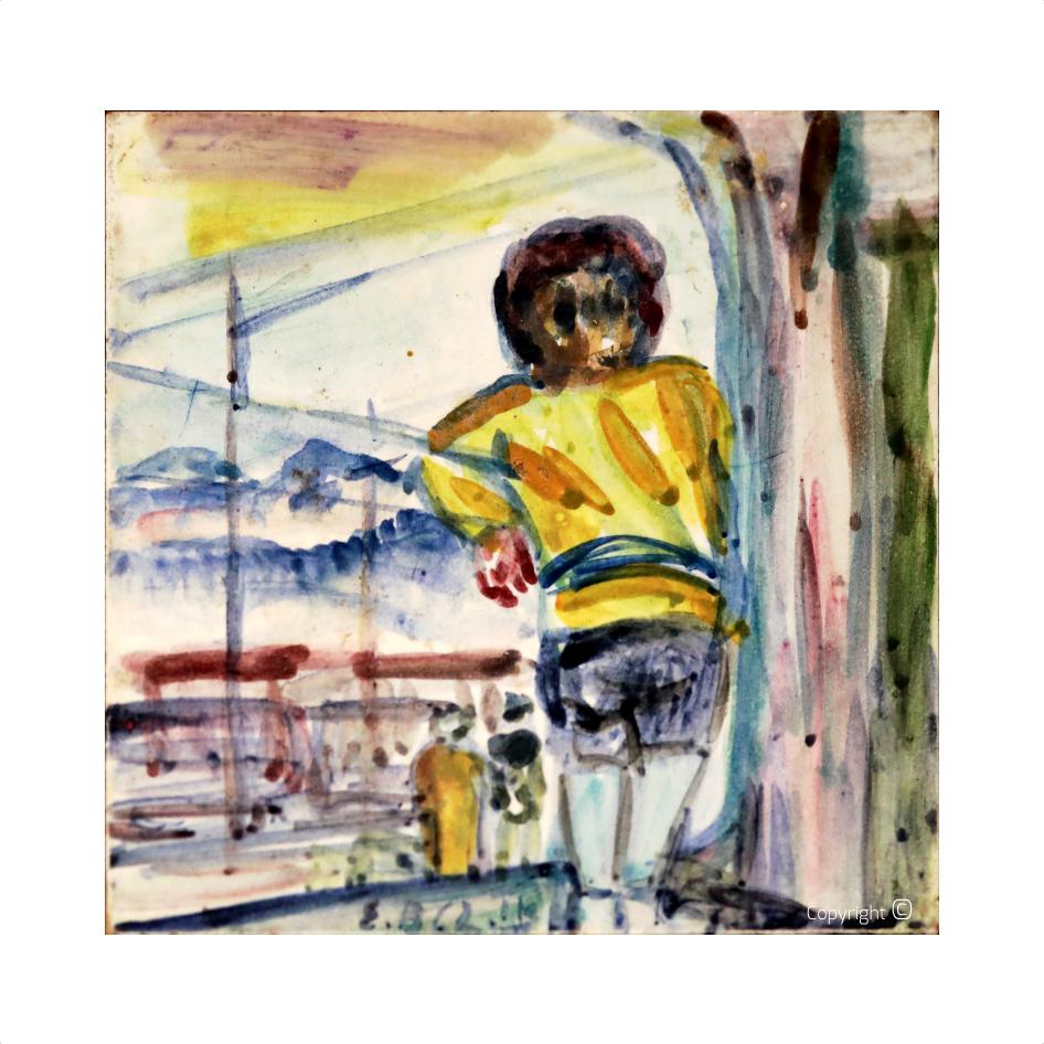 Kind an einer Reling, 1962