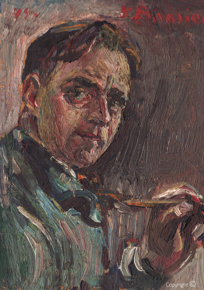 Catalog of Works N ° 190 - Self-Portrait - Oil on Wood, 1944