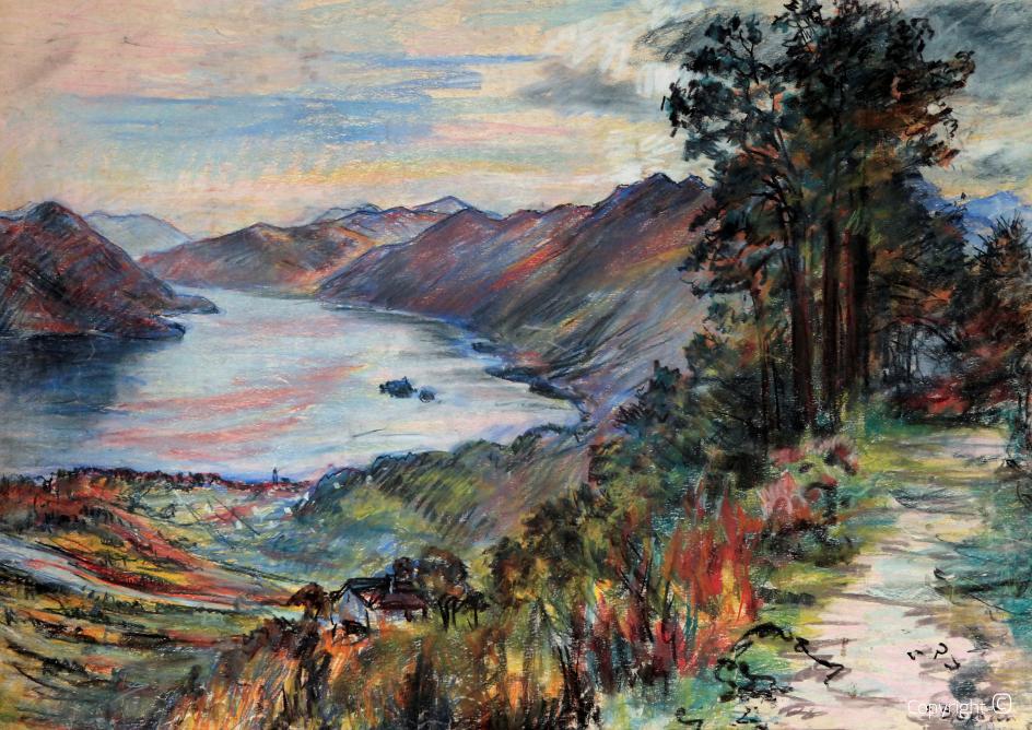 Panorama of Lake Maggiore, ca.1954