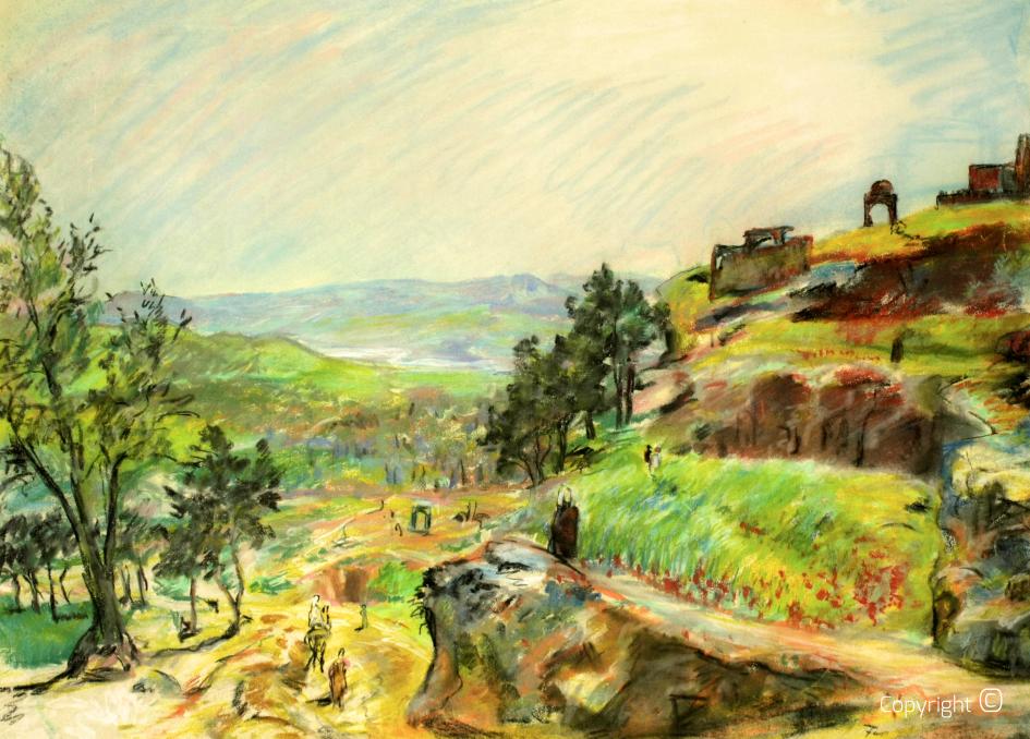 Landschaft bei Fez in Marokko, 1934