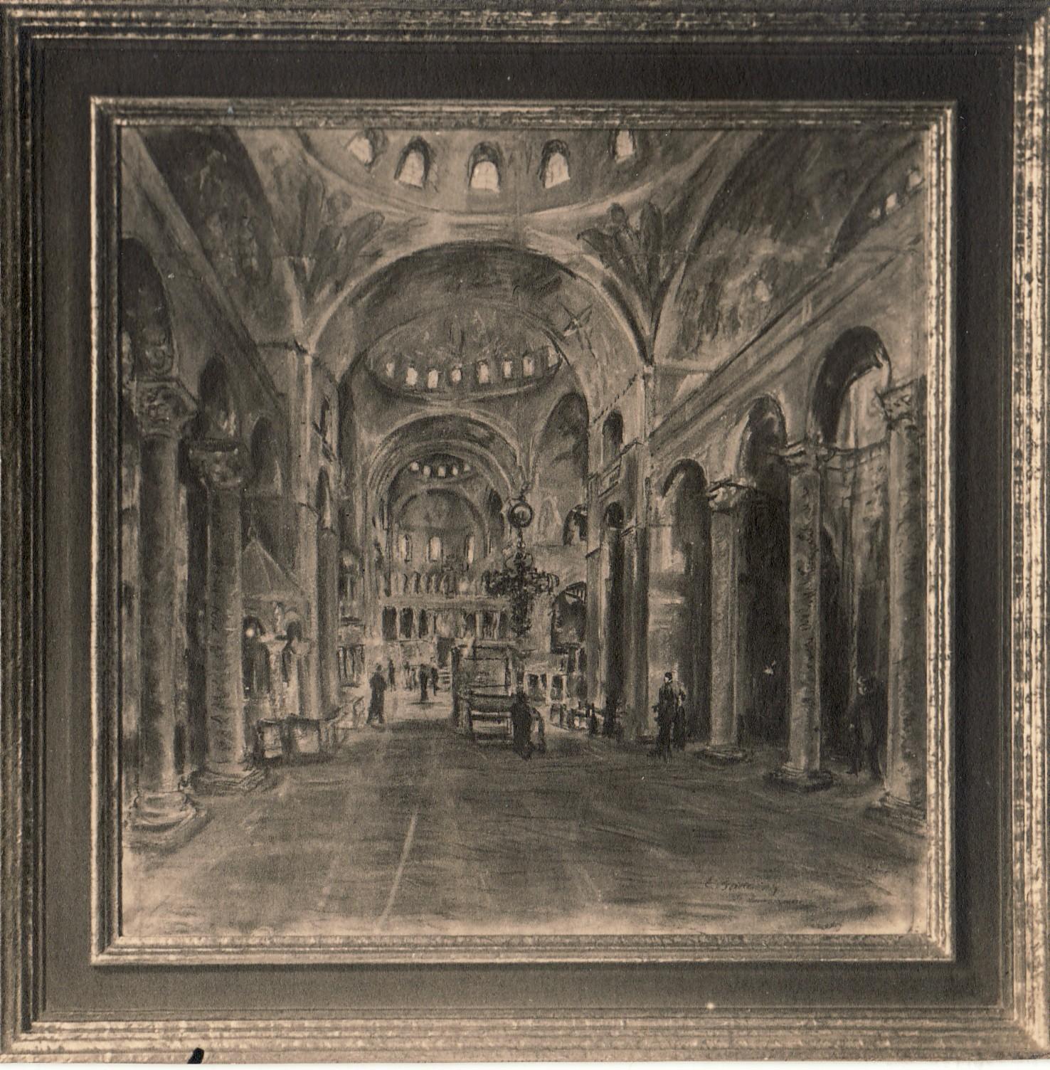 Interior view of St. Mark's Basilica in Venice, ca.1928