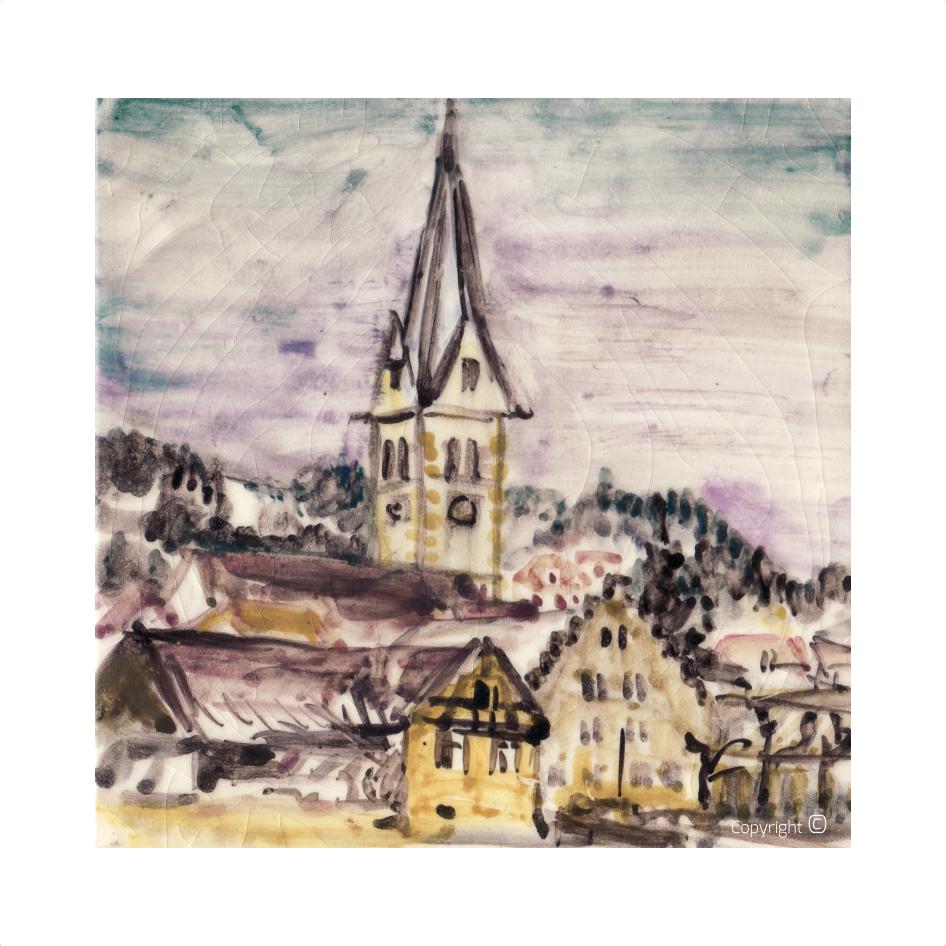 Werkverzeichnis N° 2773 – Ansicht von Sipplingen am Bodensee, 1968