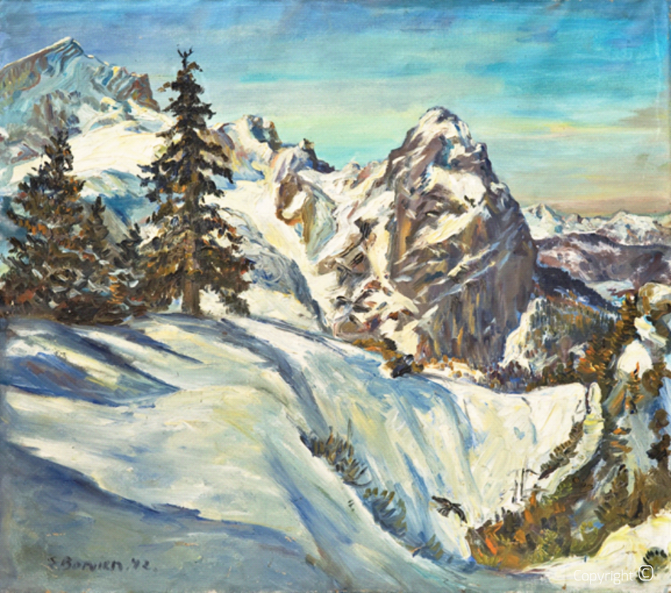 Panorama der Zugspitze, 1942
