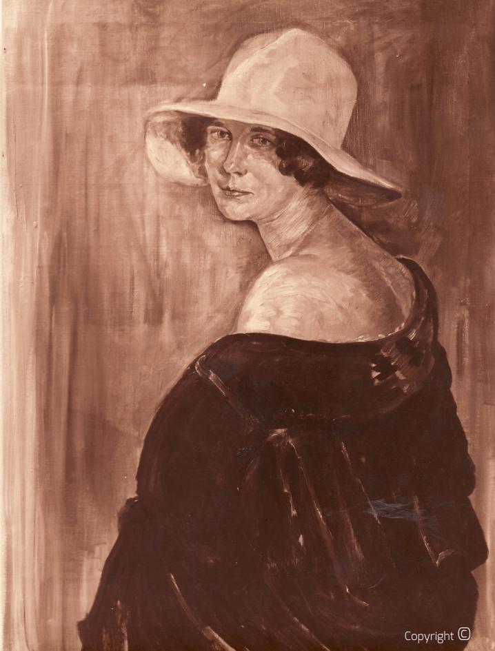 Verschollen - Portrait von Frieda Enzenroß, ca. 1928