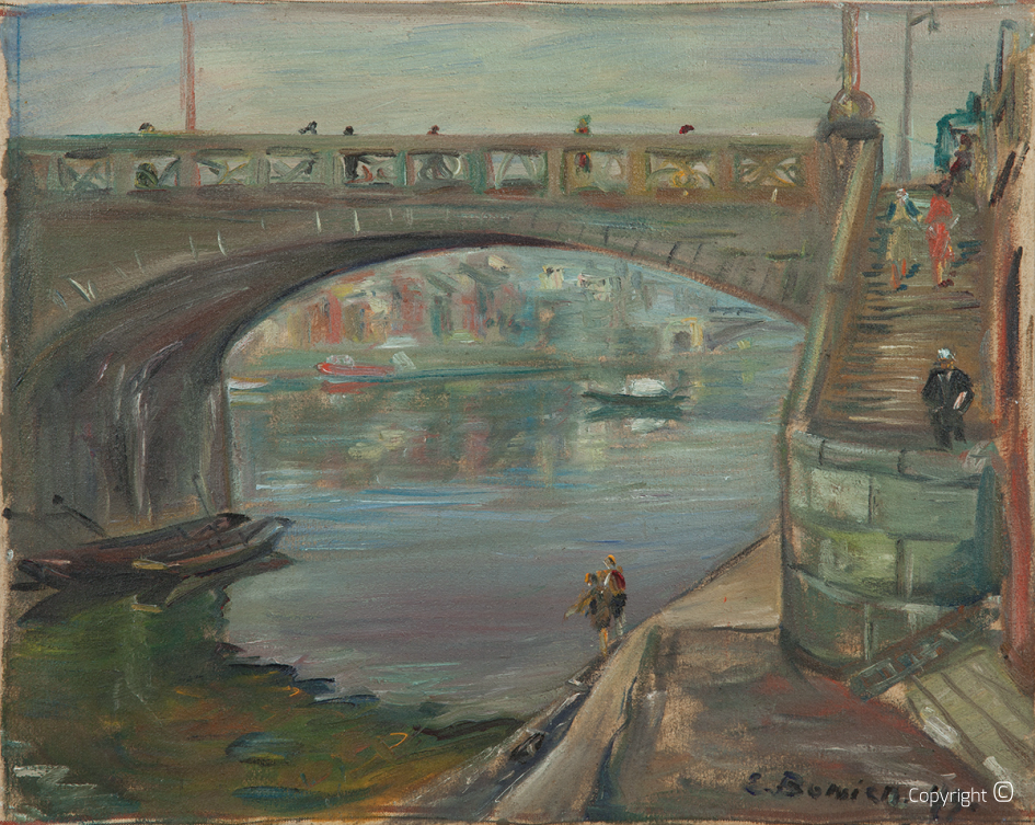 Eine Brücke in Basel, 1949