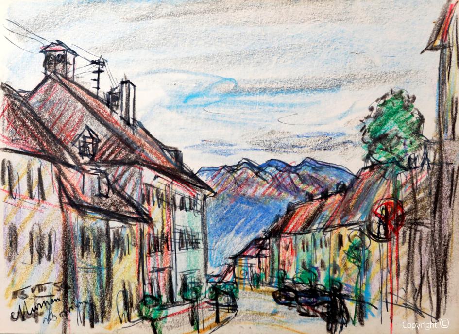 Erwin Bowien (1899  - 1972) - Murnau in Upper Bavaria, 1956