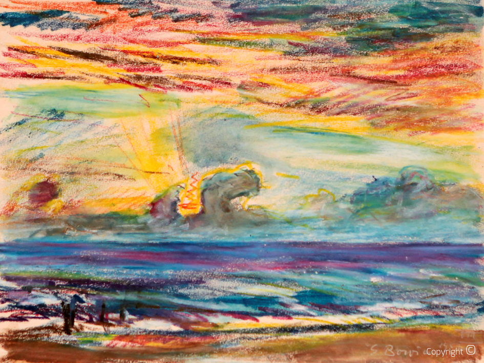 Sonnenuntergang auf Sylt, 1957