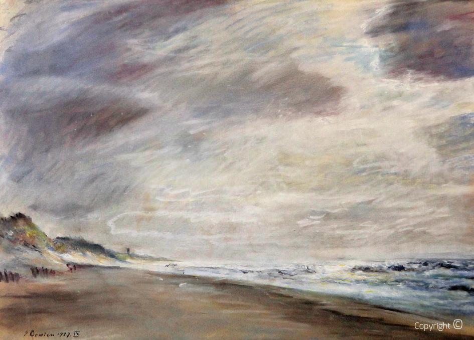 Werkverzeichnis N° 1145 - Holländische Küste im Winter, 1937