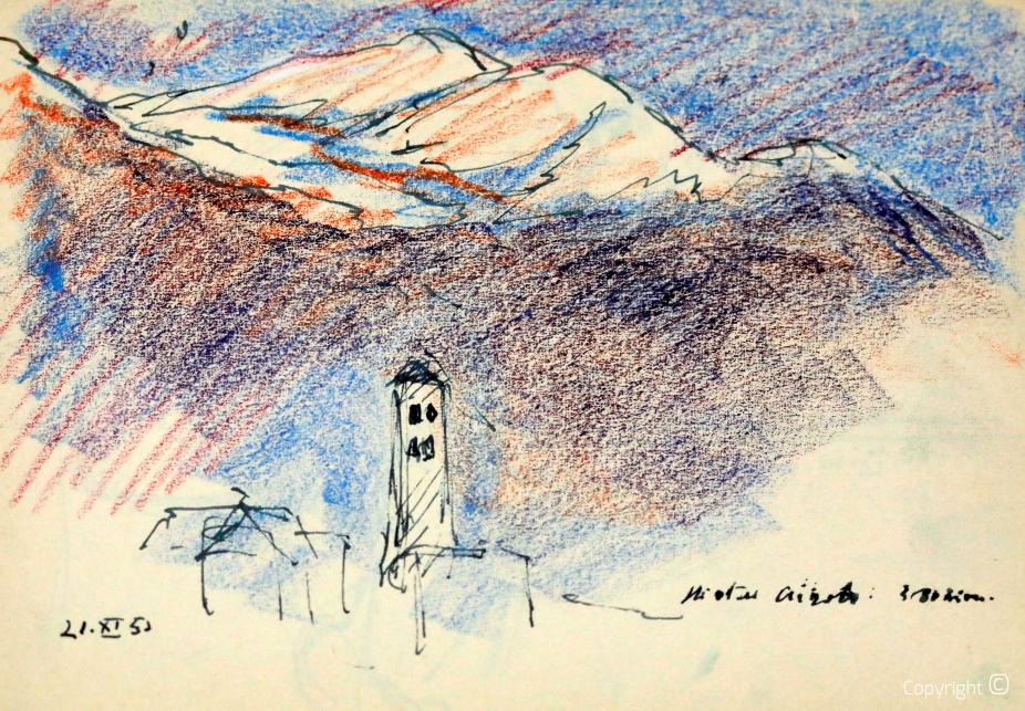 Ticino, study, 1953