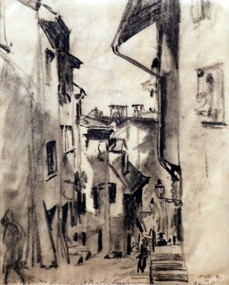 Gasse in Basel, 1921