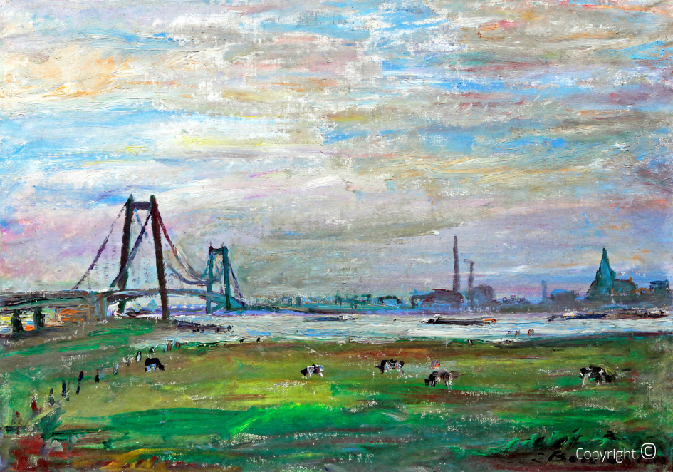 Catalog of Works N ° 666 - Rhine Bridge near Kleve, 1963