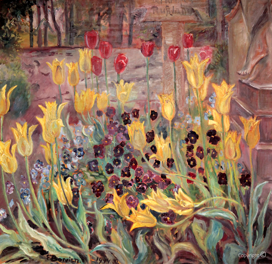 Catalog of Works N ° 171 - Tulip painting (The grave of the Russian soldier in the cemetery of Kreuzthal-Eisenbach)