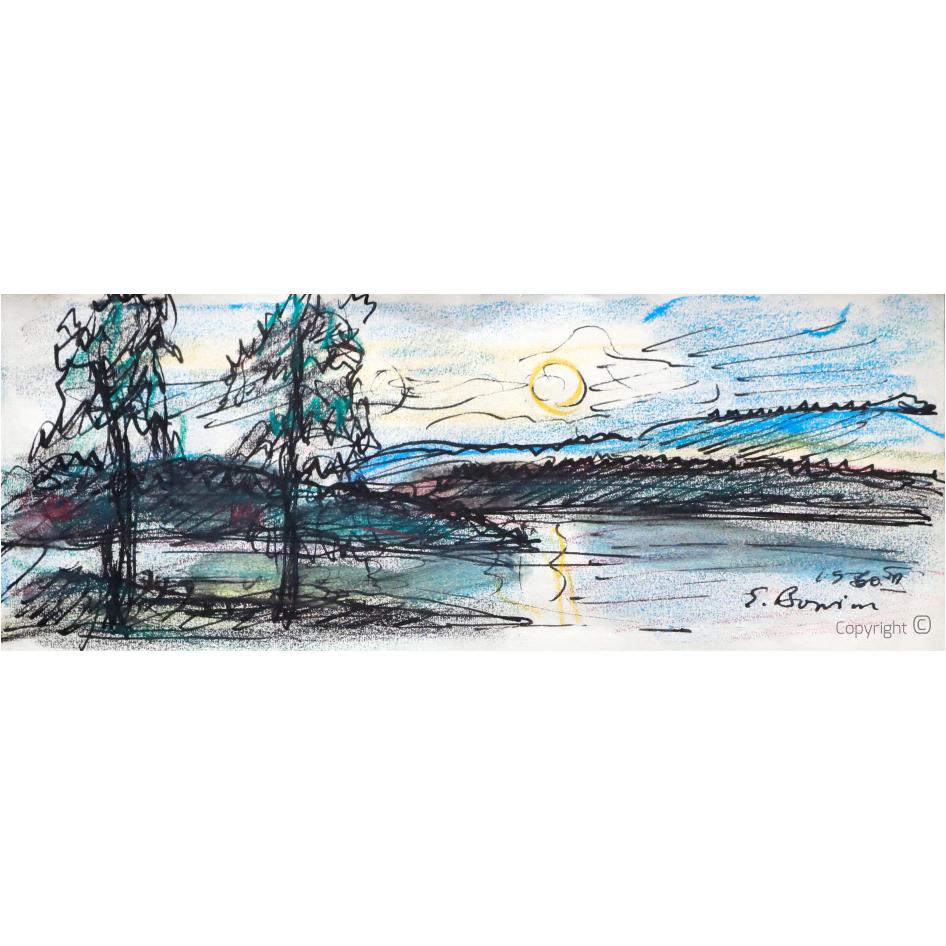 Erwin Bowien (1899 - 1972) – Am Mjösa See in Norwegen, 1963