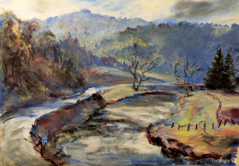 Ansicht der Wupper bei Solingen, 1932