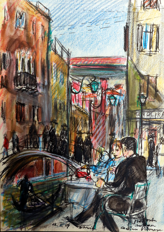 Café in Venedig, 1954