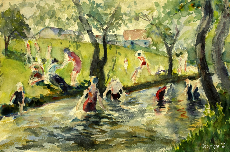 The Eisbach in Munich, 1923