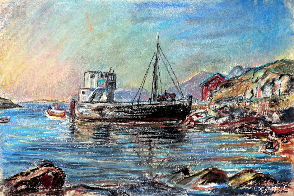 Fischerboot in Nordnorwegen